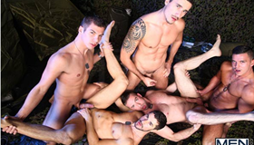 Sexo Grupal - Dean Monroe, Paddy O'Brian, Jay Roberts, Paul Walker & Scott Hunter