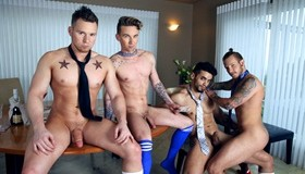 Gay Grupal - Jaxon Colt, Ashton Webber, Arad & Owen Michaels