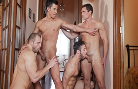 Suruba Gay - Scott Carter, Tomas Friedel, Maikel Cash & Pau Casserras