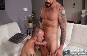 Gay Bareback - Rocco Steele & Cam Christou