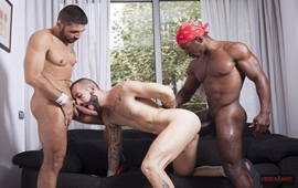 Bareback Inter-racial - Max Toro, Angel Garcia & Tony Moreno