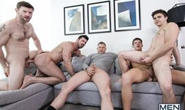 Suruba Gay - Billy Santoro, Will Braun, Dennis West & Brenden Cage