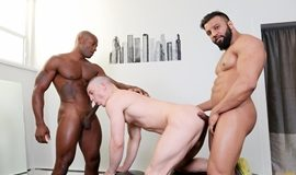Gay Inter-racial - Osiris Blade, Caleb King & Damian Flexxx