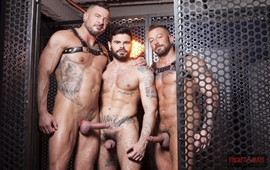 Gay Bareback - Mario Domenech, Dolf Dietrich and Hugh Hunter