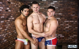 Sexo Gay - Diego Sans, Aspen and Brenner Bolton