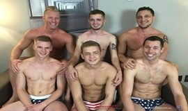 Surubão com Joey D, Johnny V,Ty Thomas, Cash Lockhart, Ian Levine and Joshua James - Bareback