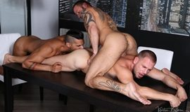 Hot Stuff: Nightfall Sex – Hans Berlin, Antonio Miracle & Lucas Fox