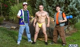 Super Gay Hero – Fuckemon Go – A Gay XXX Parody – Johnny Rapid, Will Braun & Adam Bryant
