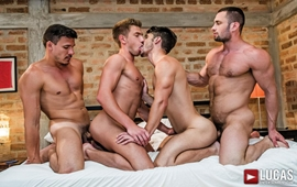 Devin Franco And Bogdan Gromov Bottom For Stas Landon And Roman Berman