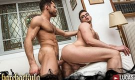 Barebackula Claims The Cum Of Jonathan Harder – Damon Heart & James Castle