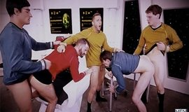 Super Gay Hero – Star Trek: A Gay XXX Parody - Brendan Patrick, Donny Forza, Jack Hunter, Jordan Boss & Rod Pederson
