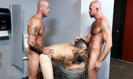 Sean Duran, Matt Stevens and Jason Barr – Glory Hole Birthday Surprise
