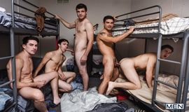 Jack Hunter, Noah Jones, Vadim Black, Will Braun and Zach Taylor in Group Home: Orgy Part 3
