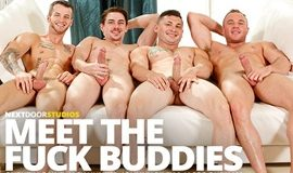 Suruba Gay - Quentin Gainz, Johnny Riley, Jack Hunter and Jacob Durham