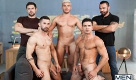 Paddy O'Brian, Jessy Ares, Griffin Barrows, Sunny Colucci & Ken Rodeo in 'Ex-Machina : A Gay XXX Parody