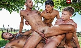 Bareback Double-Fucking – Viktor Rom, Ken Summers, Dominic Arrow & Bogdan Gromov