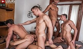 Devin Franco, Andrey Vic, Javi Velaro, Drae Axtell & Angel Cruz – Raw Double-Penetration