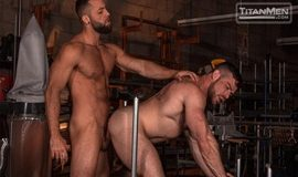 Sling: Liam Knox and Eddy Ceetee fuck in the sling factory