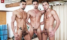 LucasEntertainment – Damon Heart Gets Double-Fucked by Ibrahim Moreno and Bogdan Gromov