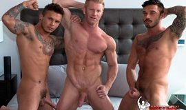 AmericanMuscleHunks - Seth Knight, Cris Knight & Johnny V