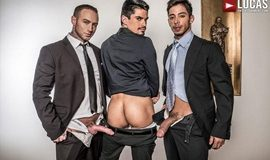 LucasEntertainment – Gentlemen 20: Inside Trade – Dylan James And Drae Axtell Double Team Lee Santino
