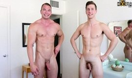 GayHoopla – Bodybuilder Dorian James FUCKS Adrian Monroe