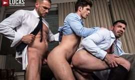 LucasEntertainment – Hans Berlin And Billy Santoro Fuck Devin Franco