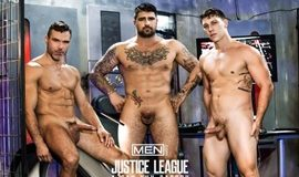 Gay Super Hero – Justice League: A Gay XXX Parody 3 – Ryan Bones, Paul Canon & Manuel Skye