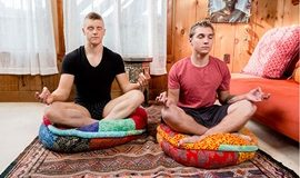 NextDoorStudios: Elye Black barebacks Alex Tanner in Manly Meditation