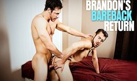 Brandon's Bareback Return - Brandon Cody Fucks Dante Colle