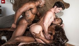Hung Black Studs Andre Donovan and Max Konnor Spit Roast Devin Franco