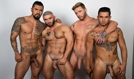 Jake Jaxson's All Saints Part 4 starring Boomer Banks, Josh Moore, Ricky Roman & Francois Sagat