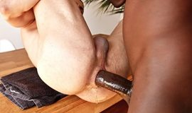 Aaron Blue takes Devon Lebron's 10-inch cock raw and deep