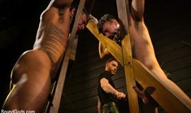 BoundGods – Dungeon Muscle Challenge – Two Pain Sluts Pushed To Their Limits – Sebastian Keys, Mason Lear & Draven Navarro