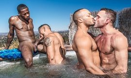 NoirMale – Hot Tub Fourgy – Dillon Diaz , Deep Dicc, Manuel Skye & Nico Santino