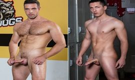 Hit the Mat – Alex Mecum pounds Tristan Hunter bareback
