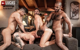 Fucked Wide Open – Louis, Apolo, Drake, And Andrea's Ass-Splitting Foursome