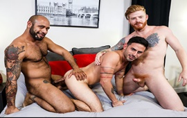 Power Switch – Cesar Rossi, Bennett Anthony & Leo Forte flip fuck bareback