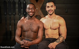 Fresh Muscle: Leather Clad Arad Winwin Punishes Newcomer Parker Payne