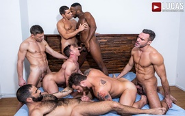 The Lucas Men Gang, Bang, and Pound (Part 01) – Alexander Volkov, Andre Donovan, Andrey Vic, Edji Da Silva, Manuel Skye, Rafael Carreras & Riley Mitchel
