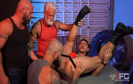 RawFuckClub – Alessio Vega vs Three Muscle Daddies
