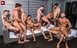 Join The Sweaty All-Star Orgy (Part 02) – Allen King, Colton Grey, Dakota Payne, Hunter Smith, Jeffrey Lloyd, JJ Knight, Manuel Skye, Max Arion, Michael Lucas & Ruslan Angelo