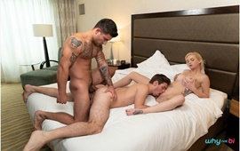 WhyNotBi – Bubble, Bubble, Boys and Trouble – Vadim Black, Michael DelRay & Astrid Star's bi bareback threeway
