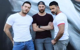 Ericvideos – Rico Fatale, Lenny & Teddy Torres – Rico waits for two cocks in the basement