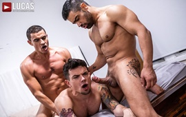 Rafael Carreras And Wagner Vittoria Spit-Roast Dakota Payne