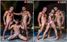 Allen King And Max Avila Share Manuel Skye's Uncut Cock