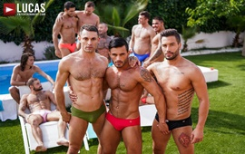 Andrea Suarez, Andy Star & James Castle - Poolside Threesome
