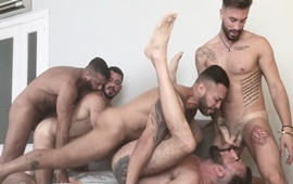 Viktor Rom, Lex Anders, Joe Gillis, Joe Casio & Andrea Suarez - Pride Group Fuck
