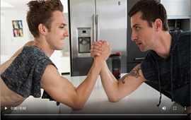 BrotherCrush - Arm Wrestling - Bar Addison & Wolfie Blue
