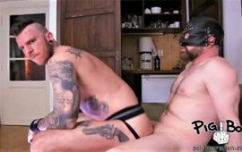 Pigboy Loaded By Sleazy Muscled Hung Bear